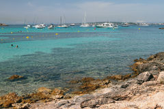 Baía Cala Xinxell Palma de Maiorca, Espanha Foto de Stock