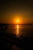Baía calma do por do sol Foto de Stock