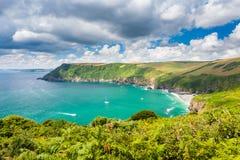 Baía Cornualha Inglaterra de Lantic Imagem de Stock Royalty Free