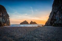 Baía Cornualha Inglaterra Reino Unido de Holywell Imagem de Stock Royalty Free