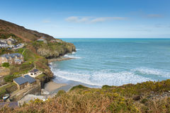 Baía Cornualha norte Inglaterra Reino Unido do St Agnes Fotos de Stock Royalty Free