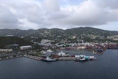 Baía da coroa em Charlotte Amalie fotografia de stock royalty free