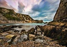 Baía da guerra do homem 'O', Dorset Imagem de Stock