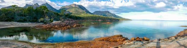 Baía da lua de mel, Tasmânia imagem de stock