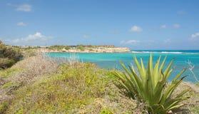 Baía da ponte do ` s do diabo - mar das caraíbas - Antígua e Barbuda fotos de stock