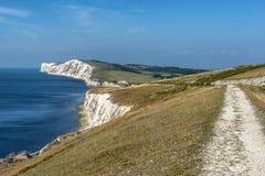 Baía de água doce na ilha do Wight fotografia de stock royalty free