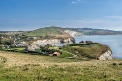 Baía de água doce na ilha do Wight imagens de stock royalty free