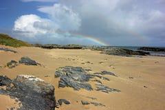 Baía de Balnahard, ilha de Colonsay, Escócia Imagem de Stock