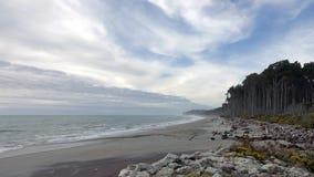 Baía de Bruce na costa oeste de Nova Zelândia fotos de stock royalty free