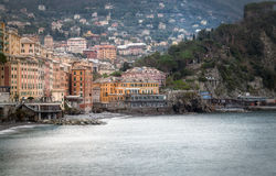 Baía de Camogli Imagem da cor Imagem de Stock Royalty Free