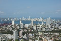 Baía de Cartagena em Colômbia Fotografia de Stock Royalty Free