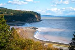 Baía de Chignecto em Alma New Brunswick Fotos de Stock Royalty Free