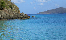 Baía de Coki em St Thomas fotografia de stock royalty free