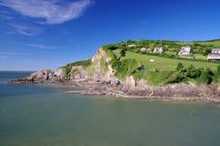 Baía de Combe Martin em Devon, Inglaterra foto de stock