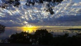 Baía de Corio do nascer do sol Imagens de Stock