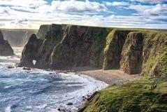 Baía de Duncansby, Escócia do norte foto de stock royalty free