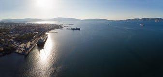Baía de Eleusis, Attica - Grécia fotografia de stock royalty free