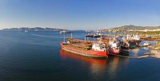Baía de Eleusis, Attica - Grécia imagem de stock royalty free