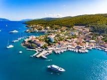 Baía de Fiskardo Cephalonia Fotos de Stock Royalty Free