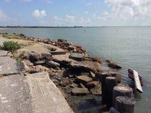 Baía de Galveston imagens de stock royalty free