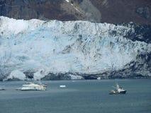 Baía de geleira de cruzamento em Alaska Fotografia de Stock