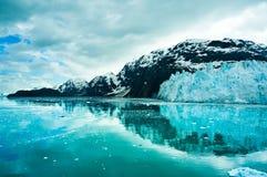 Baía de geleira em Alaska, Estados Unidos Imagem de Stock