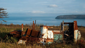 Baía de Gertner Mar de Okhotsk fotos de stock royalty free