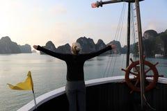 Baía de Halong - Vietname Ásia foto de stock royalty free