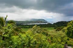 Baía de Hanalei, Havaí Imagem de Stock Royalty Free
