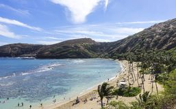 Baía de Hanauma, ahu do ` de O, Havaí foto de stock