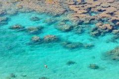Baía de Hanauma, Ohau, Havaí fotos de stock royalty free