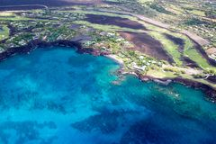 Baía de Honokaope, ilha grande, Havaí Imagem de Stock Royalty Free