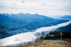 Baía de Juneau, Alaska imagens de stock