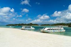 Baía de Kabira na ilha de Ishigaki, Okinawa Japan Imagem de Stock