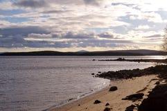 Baía de Kandalaksha do mar branco foto de stock