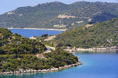 Baía de Kas Marina em Turquia Fotografia de Stock