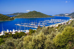 Baía de Kas Marina em Turquia Imagem de Stock Royalty Free