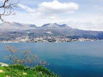 Baía de Kotor, baía de Kotorska, Montenegro Fotos de Stock Royalty Free