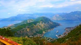 Baía de Kotor/baía de Kotor em Montenegro fotos de stock