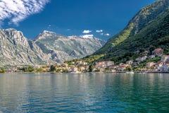 Baía de Kotor Montenegro Imagens de Stock