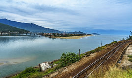 Baía de Lang Co Foto de Stock Royalty Free