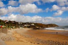 Baía de Langland, Gower, Swansea, Gales, Reino Unido imagens de stock royalty free