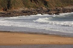 Baía de Langland, Gower, Swansea, Gales, Reino Unido fotos de stock royalty free