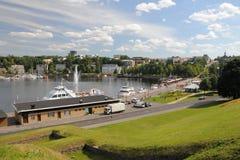 Baía de Lappeenranta, Finlandia fotografia de stock