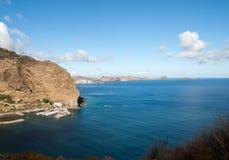 Baía de Machico na costa leste da ilha de Madeira, Imagem de Stock