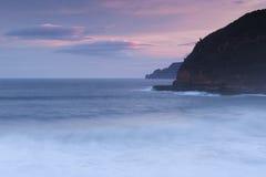 Baía de Maingon no crepúsculo Imagem de Stock