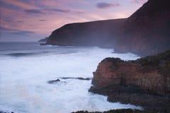 Baía de Maingon no crepúsculo Fotografia de Stock Royalty Free