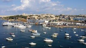 Baía de Malta-Sliema Foto de Stock Royalty Free