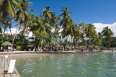 Baía de Marigot - ilha tropical de St Lucia Imagem de Stock
