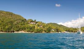 Baía de Marigot - ilha tropical de St Lucia Foto de Stock Royalty Free